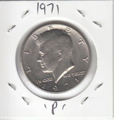 United States Coins - 1971-P Half Dollar, Kennedy - Uncirculated