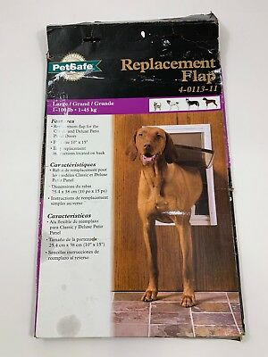 "PETSAFE Replacement Flap Door Deluxe Panel 1-100lb Large Dogs 10""x15""  4-0113-11"