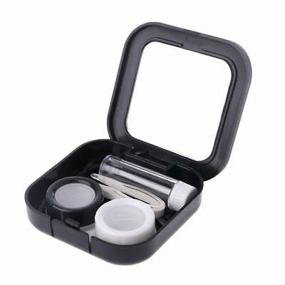 Stars Moon Women Contact Lens Case For Girl Mirror Kit Holder Portable Box Black