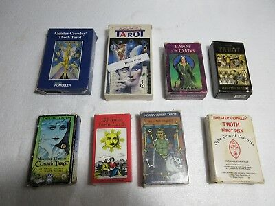 LOT OF VINTAGE Tarot Cards Decks Aleister Crowley Thoth Norbert Losche  Witches