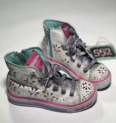 Twinkle Toes Limited Edition Sketchers High Top Shoes Girls Size 12 Lights 552