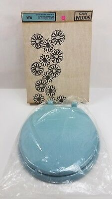 Vintage Retro Toilet Seat Sky Blue & Hardware New In Box New Old Stock