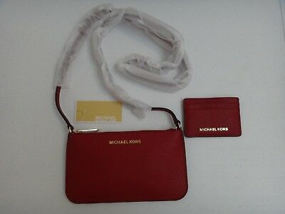 0d487923ced3 ... best michael kors 2 pc box set mk red cherry saffiano leather crossbody bag  wallet dd76d inexpensive michael kors jetset ...