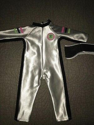 Authentic American Girl Pleasant Company Brand Silver Athlete One Piece Outfit