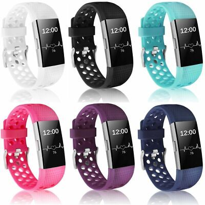 For Fitbit Charge 2 Wristband Replacement Silicone WatchBand Strap Accessory S L