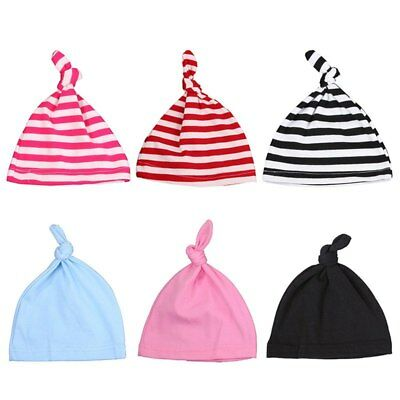 HOT Newborn Baby Unisex Beanie Knotted Cotton Hat Soft Cap Infant Toddle Hat
