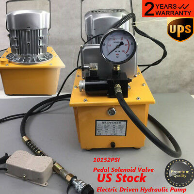 Electric Hydraulic Pump >> 2 Stage Solenoid Valve Electric Hydraulic Pump Power Pack 110v Psi