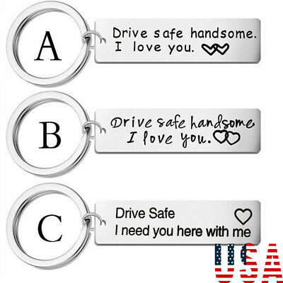 Gift For Mom Dad Couples Boyfriend Key Chain Drive Safe Keychain Family Keyring