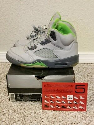 low priced 0827c 7a83e Air Jordan 5 Retro Silver Green Bean Flint Grey 2006 Size 8