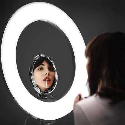 Craphy 18'' SMD 432 LED Ring Light 48W Bi-color 3200k-5500k Kit with Light Stand