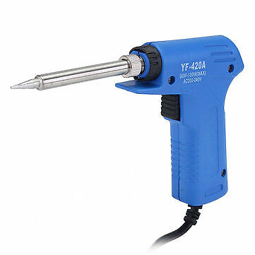 220V 30W-130W Dual Quick Heat-Up Adjust Stainless Electrical Solder Iron Tool US