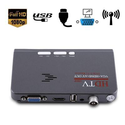 Decoder Ricevitore Digitale Terrestre DVB-T2/T HD 1080P TV BOX VGA HDMI AV USB