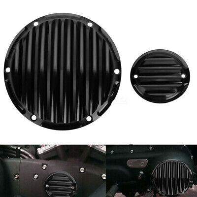 Satin Black Derby Clutch Cover For Harley 883 1200 Sportster 94 03