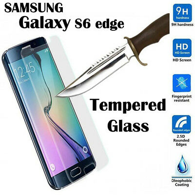Tempered Glass LCD Screen Protector Clear For Samsung Galaxy S6 Edge Full Curved