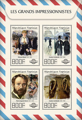 Z08 TG17507a Togo 2017 Great Impressionists MNH Mint