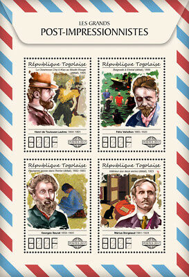 Z08 TG17508a Togo 2017 Great Post-Impressionists MNH Mint