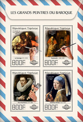 Z08 TG17510a Togo 2017 Great Painters of Baroque MNH Mint