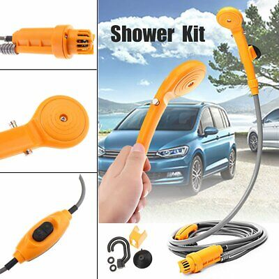 Portable 12V Car Camping Shower Electric For Hiking Caravan Pet Dog Clean Tools