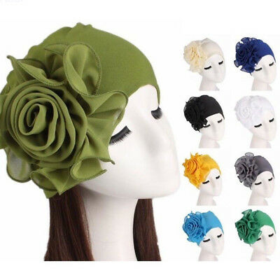 Women Ladies Elegant Wool Big Flower Felt Hat Winter Bucket Cap Cover Fashion