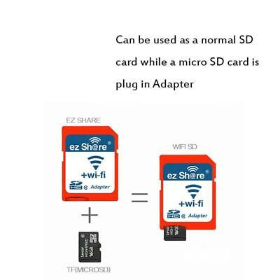EZ Share WiFi SDHC adapter Wireless SD card Micro SD adapter Memory card Reader