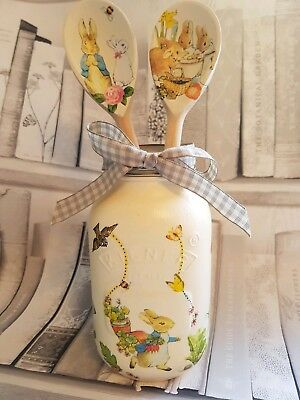 Shabby Chic Peter Rabbit Themed Kilner Jar 1.0ltr & Spoon Set