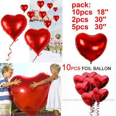 Heart Shape Foil Helium Balloons Valentines Day Weddind Hen Night Birthday Party