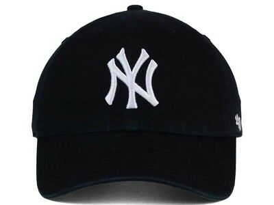 cheap for discount 4a121 71c33 New York Yankees 47 Brand Clean Up Adjustable On Field Cotton Blue Hat Cap  MLB
