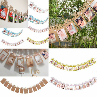 1-12 Month Photo Banner Garlands Monthly Bunting 1st Birthday Recording Banner