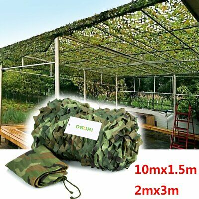 Army Camouflage Net Camo Netting Camping Shooting Hunting Hide Woodland  2 sizes