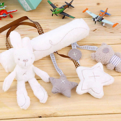 Baby Infant Rattles Plush Animal Stroller Music Hanging Bell Toy Doll Soft-Bed