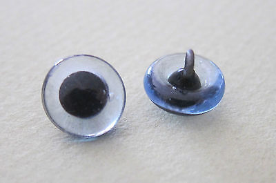 1 paire yeux verre bleu clair-8mm-ours peluche-Bear animal blue glass eyes