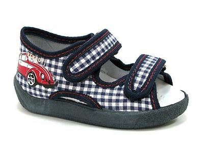 Baby Toddler Boys Canvas Shoes Kids Sandals - Red Car (UK 4 / EU 20)