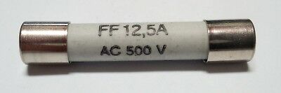 Fusible FF12.5A  AC 500V ultra rapide Protistor  6.3 x 32mm