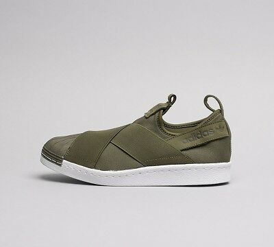 best service 080d7 e43f9 WOMENS ADIDAS SUPERSTAR Slip-On Olive Trainers RRP. £69.99 (SF33)