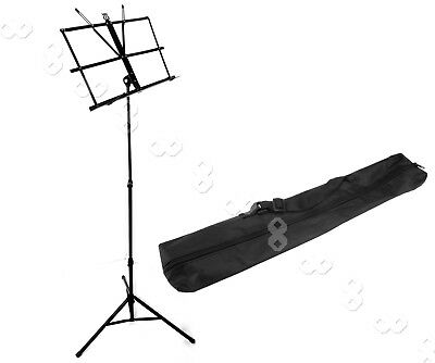 Metal Adjustable Foldable Music Sheet Stand Mount with Carry Bag