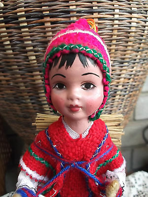 Antique Vintage Asian Style Doll