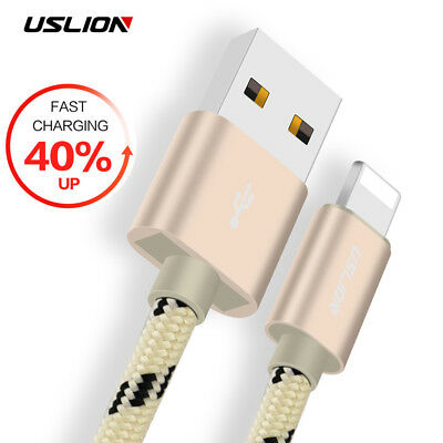 Heavy Duty Braided USB - Lightning Charger Lead Data Cable For Apple iPhone