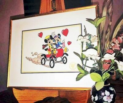 "Disney's ""sunday Drive"" Limited Ed. Serigraph Cel! Mickey & Minnie!"