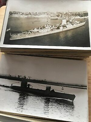 Box Of 201 Warships Photographs Military Collector Sell On (2) Submarines