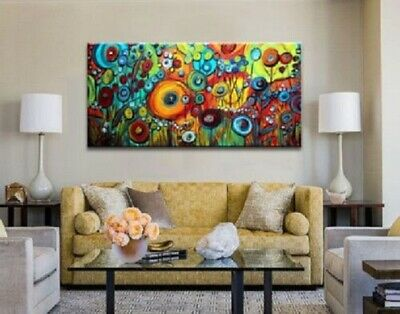 Modern Large Abstract Hand-Painted Art Wall Oil Painting on Canvas (No framed)