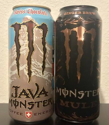 Monster Energy Java Swiss Chocolate & Mule 2 Cans Full