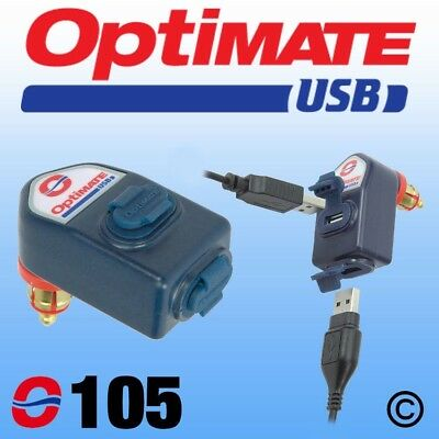Optimate 0-105 Dual USB Charger Motorbike Charger 3300mA