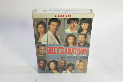 Greys Anatomy - The Complete Third Season (DVD, 7-Disc Set, Seriously Extended)