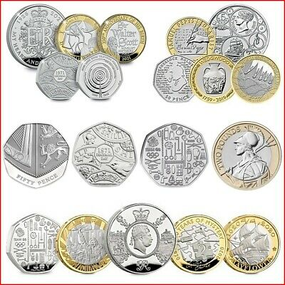 2019 UK £2 BU Commemorative Coins D-Day Landings, Wedgwood, Samuel Pepys Diary