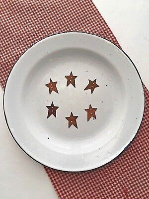 """Lot of 6 Rusty Tin 1"""" STAR  Buttons"""