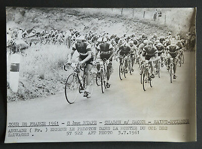 Photo de presse Cyclisme TOUR DE FRANCE 1961 HENRI ANGLADE 8ème étape