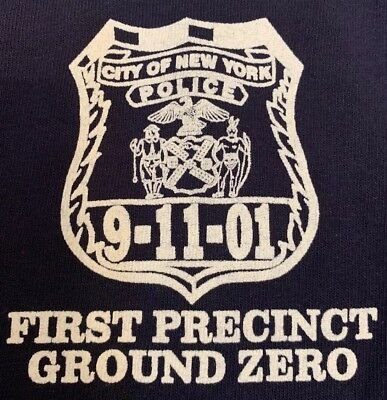 NYPD New York City Police Department NYC T-Shirt Sz L 9/11 Ground Zero