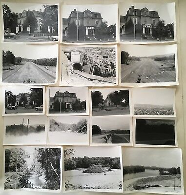 17 Original VINTAGE 1960s GREENFIELD MA Photographs YMCA Interstate 91 Building