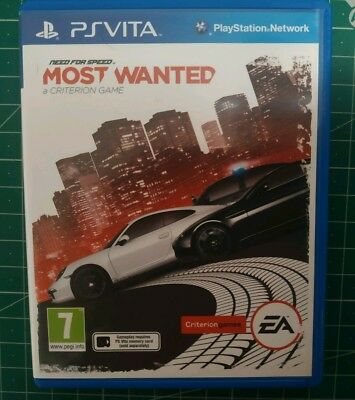 Need for Speed: Most Wanted (Sony Playstation Vita) PAL UK Box Free Postage