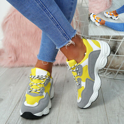 Womens Ladies Lace Up Sneakers Trainers Plimsolls Fashion Comfy Casual Shoes